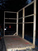 front and side wall frame on box blind
