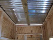 inside ceiling of box blind